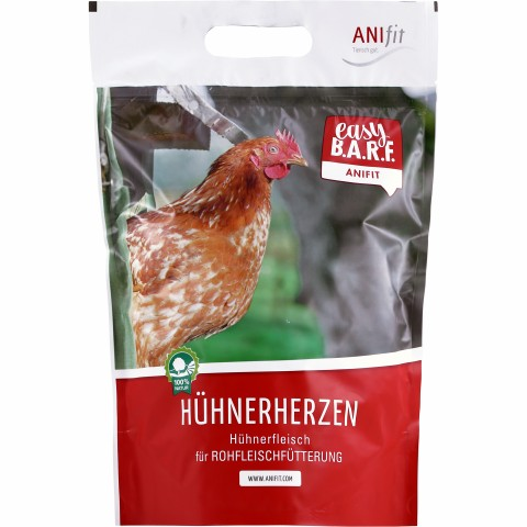 Easy Barf Chicken Hearts (Hühnerherzen) 400g (1 Piece)